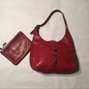 Coach bag and cosmetic bag - Red